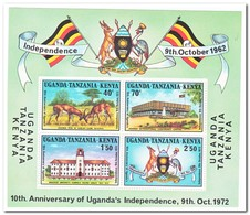 Oost Afrikaanse Gemeenschap 1972, Postfris MNH, 10 Years Independence Of Uganda - Postzegels