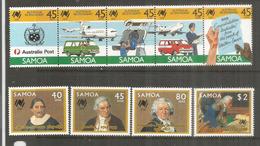 Iles SAMOA. Les Premiers Colons En Australie, Bicentenaire. 9 Timbres Neufs **  Côte 12,00 Euro - Samoa