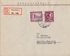 DR R-Brief Mif Minr.623,642 Regensburg Vignette Ansehen !!!!!!!!!!!!!! - Deutschland