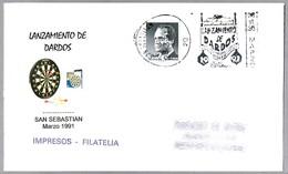 LANZAMIENTO DE DARDOS - Dart Throwing. San Sebastian, Guipuzcoa, Pais Vasco, 1991 - Juegos