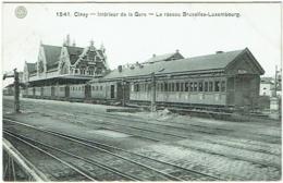 Ciney. Intérieur De La Gare. Réseau Bruxelles-Luxembourg. - Ciney