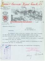Facture. Brasserie Henri Funck. Luxembourg. Neudorf. 1937. - Lussemburgo