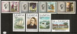 Iles SAMOA.  Écrivain écossais Robert Louis Stevenson, 2 Séries, 8 Timbres Neufs ** Côte  12,00 Euro - Samoa