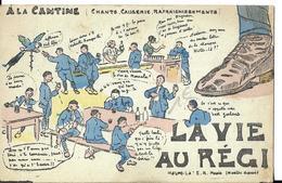 Carte En Deux Parties Pour Lire Le Texte  Rare Militaire - Humour