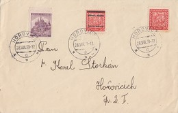 Böhmen Und Mähren Brief Mischfrankatur Horovice 28.8.39 Vignette Ansehen !!!!!!!!!!!!! - Briefe U. Dokumente