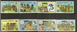 Scoutisme Aux îles SAMOA,  8 Timbres Neufs **, 2 Séries - Padvinderij