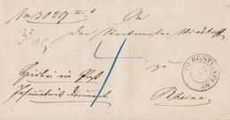 Preussen Brief K2 Burgsteinfurt 18.7. Gel. Nach Rheine - Preussen