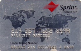 TARJETA TELEFONICA DE ESTADOS UNIDOS (PREPAGO). SPRINT FONCARD, TARJETA PERSONAL. (066) - United States