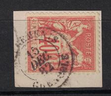 """BONNE OBLITERATION CAD """" CHARGEMENTS GRENOBLE """" 1882 Sur TYPE SAGE 40c Sur PETIT FRAGMENT - 1876-1898 Sage (Type II)"""