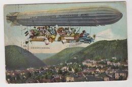 1431 Germany Friedrichroda Zeppelins. Air Car. Linie: Friedrichshafen - Friedrichroda - Memel - Friedrichroda