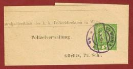 Streifband (Privat) 5 Heller   Wien  - Görlitz; - Briefe U. Dokumente