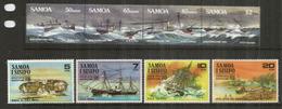 Violents Ouragans à Apia (SAMOA) 2 Séries , 8 Timbres Neufs **  Côte 18,00 Euro - Samoa