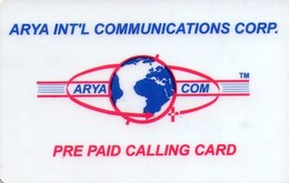 TARJETA TELEFONICA DE ESTADOS UNIDOS (PREPAGO). ARYA INT'L COMMUNICATIONS CORP. (067) - United States