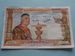 100 KIP Banque Nationale Du LAOS ( 1957 ) 027360985 ( Z.11 ) > ( For Grade, Please See Photo ) !! - Laos