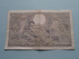 100 Fr. - 20 Belgas / 7224.J.631 ( 22.07.41 ) 180583631 > ( For Grade, Please See Photo ) ! - [ 2] 1831-... : Royaume De Belgique