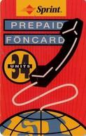TARJETA TELEFONICA DE ESTADOS UNIDOS (PREPAGO). SPRINT PREPAID FONCARD, 34 UNITES. (069) - United States