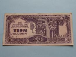 De JAPANSCHE REGEERING ( 1942 ) Betaalt Aan Toonder TIEN GULDEN ( SI ) XF > ( For Grade, Please See Photo ) ! - Indonesien