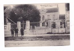 Jolie CPA Animée Guercheville (Seine-et-Marne), Mairie, école - France