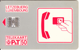 LUXEMBOURG -  Logo Rouge(SC 01), Chip SC7, CN : C45144946, Used - Luxembourg