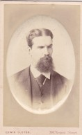 ANTIQUE CDV PHOTO -ANGRY LOOKING BEARDED MAN, LONDON STUDIO - Photographs