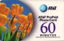 TARJETA TELEFONICA DE ESTADOS UNIDOS (PREPAGO). AT&T PREPAID 60 MINUTES, FLORES. (071) - United States