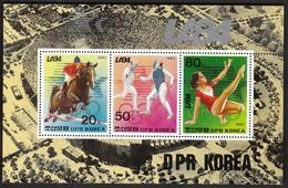 Korea 1983 / Olympic Games Los Angeles 1984 / Equestrian, Fencing, Gymnastics / Mi Bl 163 / MNH - Summer 1984: Los Angeles
