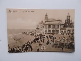 CPA.- OSTENDE Oude Sepia Kaart -   La Digue Et Le Kursaal - Oostende