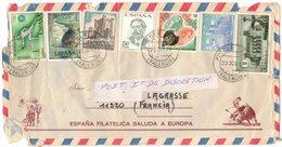 SUR LETTRE ENVELOPPE ESPAGNE PUEBLA LARGA VALENCIA Vers Aude Occitanie Espana Filatelica Saluda A Europa - 1931-Aujourd'hui: II. République - ....Juan Carlos I