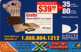 TARJETA TELEFONICA DE ESTADOS UNIDOS (PREPAGO). DIRECTV PARA TODOS, $5. (075) - United States