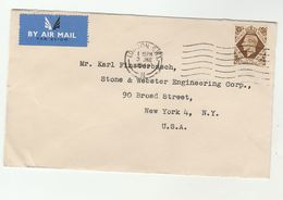 1948 Air Mail GB COVER 1/-  Stamps To USA - 1902-1951 (Kings)
