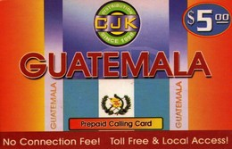 TARJETA TELEFONICA DE ESTADOS UNIDOS (PREPAGO). CJK, GUATEMALA, $5. (076) - United States