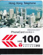 HONG KONG - Hong Kong Skyline, Hong Kong Telephone $100, Used - Hong Kong