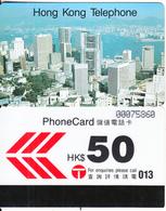 HONG KONG - Hong Kong Skyline, Hong Kong Telephone $50(large CN), Used - Hong Kong