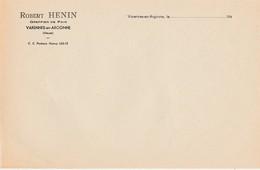 VARENNES-EN-ARGONNE (55) - Papier à Lettres -  Robert HENIN , Greffier - France