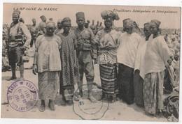 TIRAILLEURS SENEGALAIS Sénégalaises Cachet Campagne Du Marcoc 1911 Et Télégramme Ou Télégraphe Militaire Bleu - Regiments