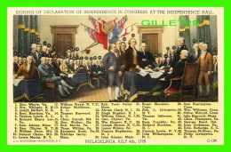 POLITIQUE - SIGNING OF DECLARATION OF INDEPENDENCE IN CONGRESS AT THE INDEPENDENCE HALL, PA 1776 - - Personnages