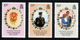 Ascencion Island Mariage Prince Charles Lady Diana  Neufs Sans Charnière N° 299 à 301 ; Yv 296 / 298 - Ascension (Ile De L')