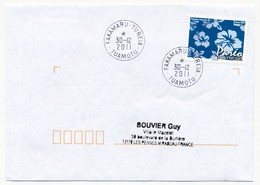 "POLYNESIE FRANCAISE - Enveloppe Affr. Pareo Oblitéré ""TARIONNE-FAKAHINA  TUAMOTU"" 30-12-2011 - Polynésie Française"