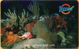 Antilles (Neth) - St. Eustatius - Teccom, EUS-T-01, Underwater Scene, Sea Life, 2000, Used - Antilles (Netherlands)
