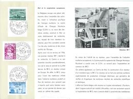 België  O.B.C.   Postfolder  1961   1195 / 1197    Euratom   Bruxelles - Brussel   (franstalig) - Documents De La Poste