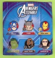 6 Pin's BD Disney Marvel Avengers Assemble Super-Héros - #986 - Disney