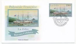 POLYNESIE FRANCAISE - 2 Enveloppes FDC - Bateaux Célèbres - La Zélée / Le Sagittaire - Papeete 22 Juin 2007 - FDC