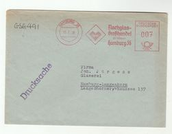 1956 GERMANY Cover METER Slogan WHOLESALE FLAT GLASS Hamburg - [7] Federal Republic
