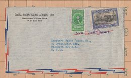 Great Cover Costa Rica To USA Columbus Presidents 1947 - Costa Rica