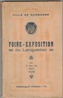 NARBONNE AUDE OCCITANIE An 1938 FOIRE EXPOSITION DU LANGUEDOC Nombreuses Publicités Locales Et Bitéroises Béziers - Books, Magazines, Comics