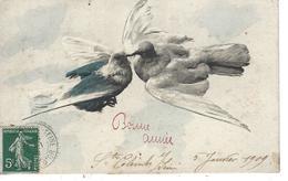 21 -SAINTE COLOMBES SUR SEINE - Belle Carte Fantaisie Représentant Deux Colombes - Autres Communes