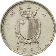 Monnaie, Malte, 10 Cents, 1991, TTB, Copper-nickel, KM:96 - Malta