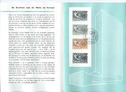België  O.B.C.   Postfolder  1962    1231 - 1232  Rechten Van De Mens  Brussel-Bruxelles (nederlandstalig) - Documents De La Poste