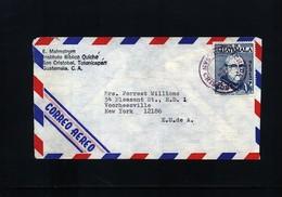 Guatemala 1973 Interesting Airmail Letter - Guatemala