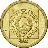 Monnaie, Yougoslavie, 10 Dinara, 1988, TTB, Laiton, KM:131 - Yugoslavia
